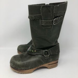 Hanna Andersson Green Clog Boots Size 32